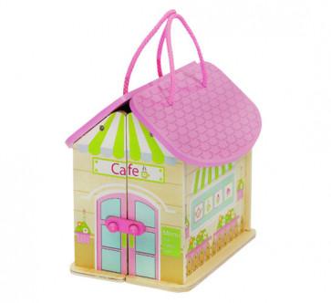 TFY 6522 Drevený domček kaviareň pre bábiky