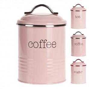 Sada 3 ks dóz na cukor, kávu a čaj, doplnky do bytu, dózy na potraviny, bytové doplnky