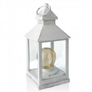 Affek Design MX7674 Prenosný lampáš s LED svetlom, Vintage 25 cm
