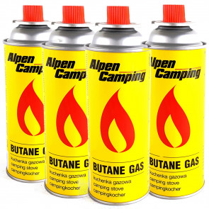 Alpen Camping TT0875 Kartuša pre plynový varič 4ks x 227g