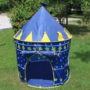TFY H801 Detský stan v tvare zámku, modrý