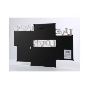 AFFEK DESIGN MX2531 Nástenný drevený fotorámik na  5ks fotografií, biely, 45x30cm