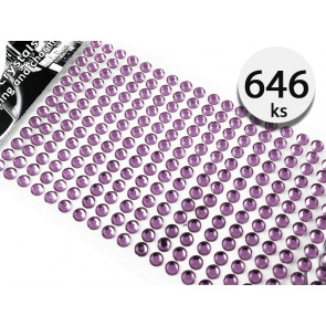 Jenifer FI.B00984 Samolepiace kamienky kryštály 4mm 646 kusov, fialové