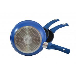 Kochline KL-FM3M Mramorové panvice 3 ks, modré, 20 cm, 24 cm, 28 cm,