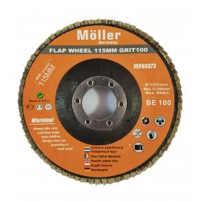 Lamelový brúsny kotúč 115mm, Möller MR60553, 1 ks