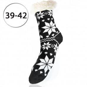 LOOKeN SM-HL-3320-BKL1 Dámske ponožky TERMAL z ovčej vlny, 39-42 VLOČKA, čierna