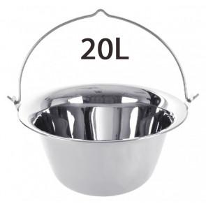 Lux LK-20 Nerezový kotlík na guláš KLASIK, 20l