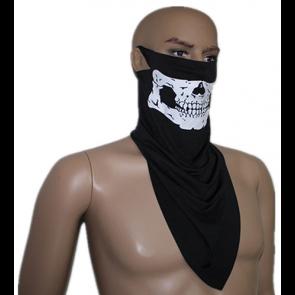 TFY Maska na motorku-lebka