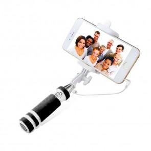 MINI MONOPOD, CB-2642 Selfie držiak, teleskopický 48cm, čierno-biely
