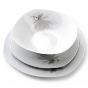 AFFEK DESIGN MX5877 Sada porcelánových tanierov 18ks kvet