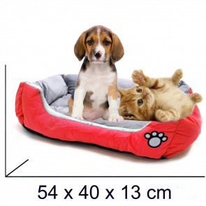 PET COMFORT Rectangle-Healthy 4 Pelech pre psa červeno-šedý, 54 x 40 x 13 cm (S)