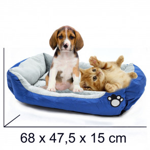 PET COMFORT Rectangle-Peaceful 11 Pelech pre psa modro-šedý, 68 x 47,5 x 15 cm (M)