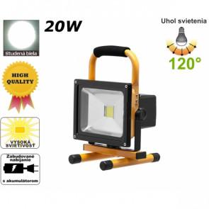 Bailong LR01 Prenosný LED reflektor 20 W, nabíjací