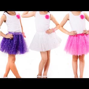 a38bb7338 ... tutu SISI 7531-black TuTu sukňa pre dievčatá bodkovaná, 3-vrstvová,  dĺžka 30cm