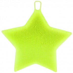 SISI No.69610-0-Green Silikónová hubka na riad 1 ks, obojstranná, zelená, tvar hviezda, 13 cm