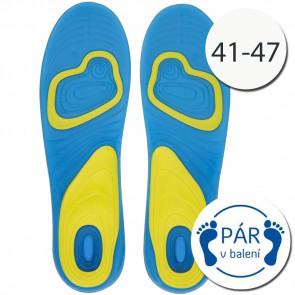 SISI NO.78117 Gélové vložky do topánok 1 pár, 41-47, šport muži
