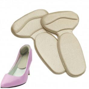 SISI NO.80530-Natural Textilné podpätníky do topánok 1 pár, naturálna