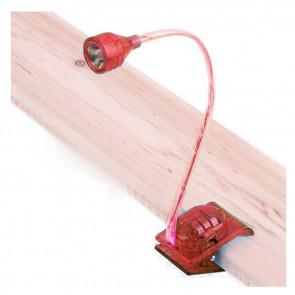 TFY 2001-red LED lampa s klipom a ohybným krkom