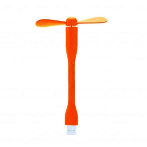 TFY 3740 Silikónový USB ventilátor, oranžový