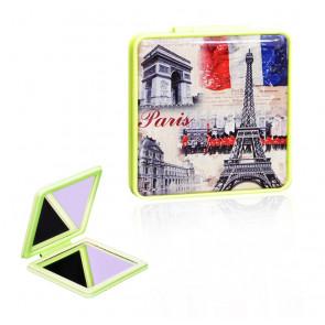 TFY Mini Mirror vintage4 Zrkadielko do kabelky, hranaté, zelené
