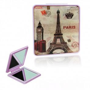 TFY Mini Mirror vintage8 Zrkadielko do kabelky, hranaté, fialové