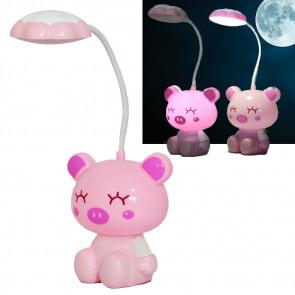 TFY NO.80608-ružová Stolová lampa detská, ružové prasiatko