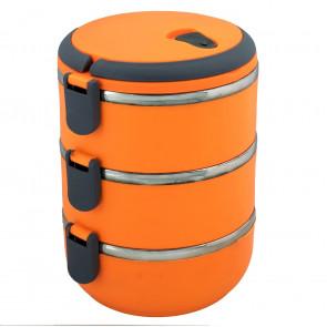 TFY LB-3P Termoobedár nerezový 3-dielny, oranžový