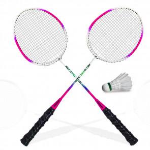 TFY X-166-ORG  Badmintonové rakety 2ks, ružové