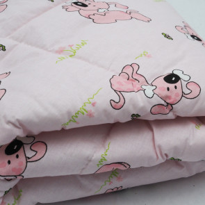 Wrap Baby No.3-pink Zavinovačka, psíkovia, ružová, 72x72 cm
